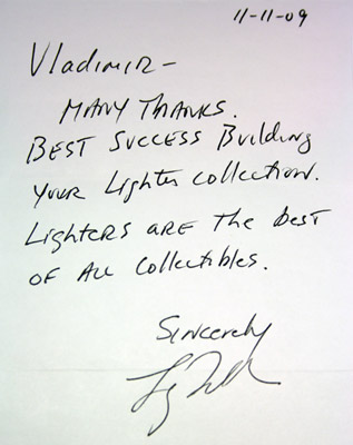 Larry Tolkin letter