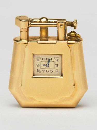 Золотой Dunhill с часами, 1927