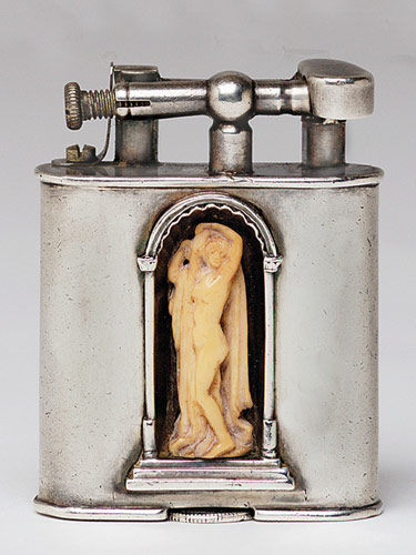 Dunhill lighter with embedded sculpture, 1928